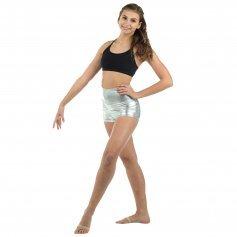 Danzcue Adult Gymnastics Dance Metallic Booty Short