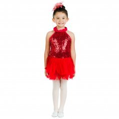Danzcue Bright Red Sequin Dress