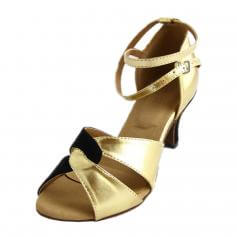 "Danzcue ""Empress\"" Adult Open Toe Ballroom Shoes"