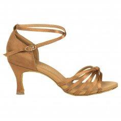 Danzcue Womens Satin Ballroom Dance Shoes