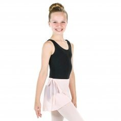Danzcue Girls Chiffon Ballet Dance Wrap Skirt With Waist Tie