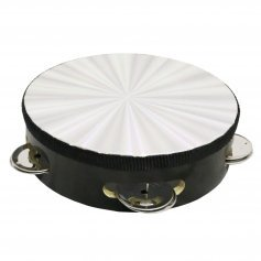 Danzcue Laser/Black Single Row Jingles Tambourine
