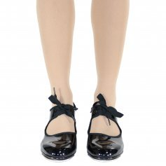 Danzcue Child Patent Flexible Tap Shoes