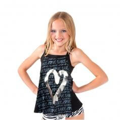 Funky Diva Child Heart Camisole Top