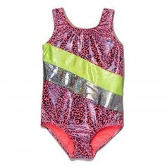 Girl Power Droplets Art Foil Leotard