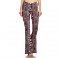 Iris Fit Tribal Print Flared Leg Pants