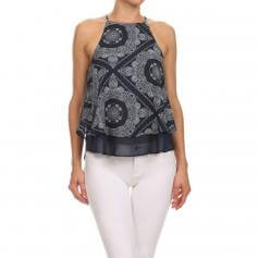 Iris Fit Diamante Tank With Back Keyhole