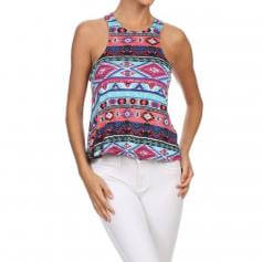 Iris Fit Top With Keyhole Racerback