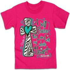 I Will Praise the Lord - Kidz Cherished Girl T-Shirt