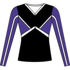 Motionwear Cheer Long Sleeve Stretch Top