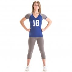 Motionwear Cheerleading V-Neck Stretch Top Shirt