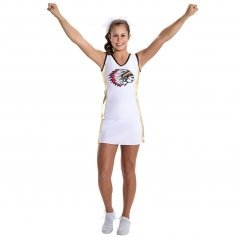 Motionwear Cheerleading Panel V-Neck Stretch Top Shell