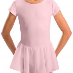 Motionwear Cap Sleeve Skirted Leotard