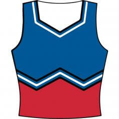 Motionwear Adult Sport Cheer W-Shell Top