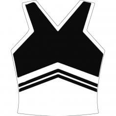 Motionwear Adult V-neck Cheer Racerback Shell Top