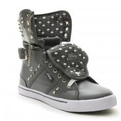 "Pastry Dance Adult ""Sugar Rush"" Skulls Grey Sneaker"