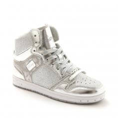 "Pastry Dance Adult ""Glam Pie"" Glitter Silver Sneaker"