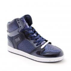 "Pastry Dance Adult ""Glam Pie\"" Glitter Navy Sneaker"