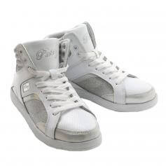 "Pastry Dance Adult ""Sweet Court\"" White/Sliver Sneaker"