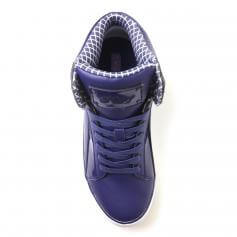 "Pastry Dance Adult ""Pop Tart\"" Grid Navy Sneaker"