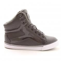 "Pastry Dance Adult ""Pop Tart\"" Grid Charcoal Sneaker"