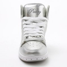 "Pastry Dance Adult ""Glam Pie\"" Glitter Silver Sneaker"