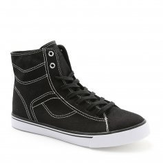Pastry Cassatta Adult Black/White Stretch Canvas High Tops