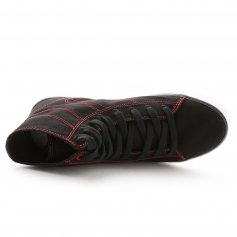 Pastry Cassatta Adult Black/Red Stretch Canvas High Tops