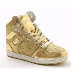 "Pastry Dance Child ""Glam Pie"" Glitter Gold Sneaker"