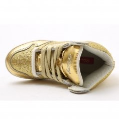 "Pastry Dance Child ""Glam Pie\"" Glitter Gold Sneaker"