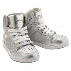 "Pastry Dance Child ""Glam Pie"" Glitter Sliver Sneaker"