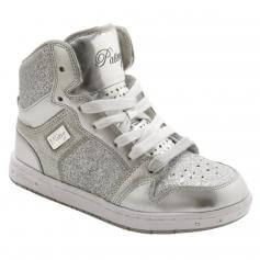 "Pastry Dance Child ""Glam Pie\"" Glitter Sliver Sneaker"