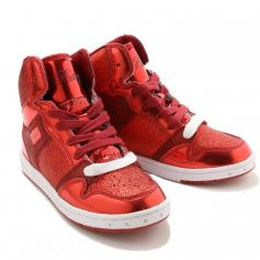 "Pastry Dance Child ""Glam Pie"" Glitter Red Sneaker"