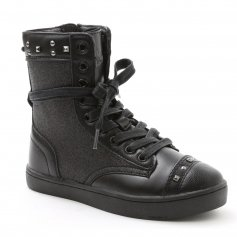 "Pastry Dance Child ""Military Glitz"" Black Sneaker Boot"