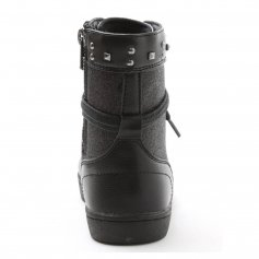 "Pastry Dance Child ""Military Glitz\"" Black Sneaker Boot"