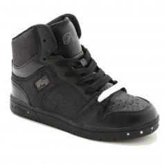 "Pastry Dance Child ""Glam Pie\"" Glitter Black/Black Sneaker"