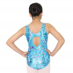 Reflectionz Turquoise Leopard Leotard