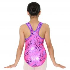 Reflectionz Fuchsia/Purple Leopard Leotard