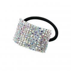 Starlight Large 10-Row Crystal AB Cuff Ponytail Binder [RSTJPBCUFFLCAB]