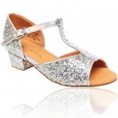 "Sansha Child/Youth ""Alexa\"" Glittery Ballroom Shoe"
