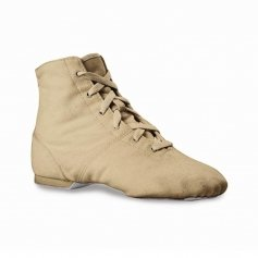 "Sansha Flesh and White Adult ""Soho-clearance"" Jazz Boot Shoes"