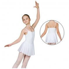 Sansha Child Cotton Camisole Leotard with Attached Skirt