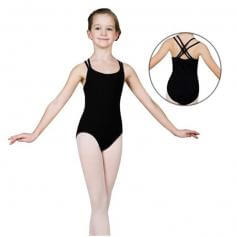 Sansha Child Double Criss-Cross Staps Cotton Camisole Leotard