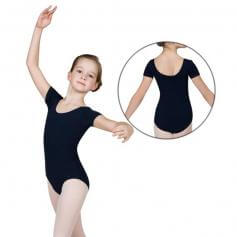 Sansha Child Princess Seams Short Sleeve Cotton Leotard