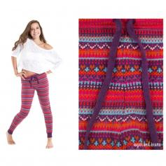 Sugar and Bruno Chalet We Dance Adult Leggings