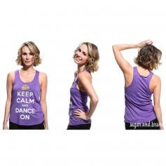 Sugar and Bruno Keltie Keep Calm Racerback