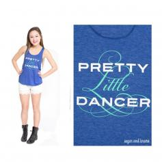 Sugar and Bruno Pretty Little Dancer Racerback Tank
