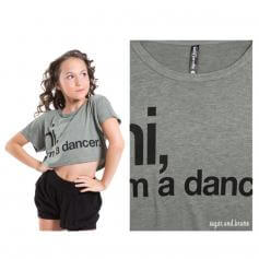 Sugar and Bruno Keltie, Hi I'm a Dancer Youth Half Top [SNBD7015]