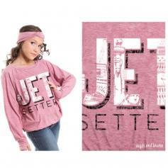 Sugar and Bruno Jet Setter Slouchy Youth Raglan