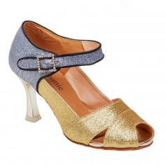 "Stephanie Ladies Gold/Silver Glitter 2.5"" Heel Ballroom Shoes"
